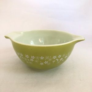 Vintage Pyrex Green Crazy Daisy Nesting Bowl 441